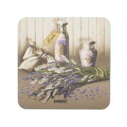 Banquet Podkładka plastikowa pod szklankę Lavender, 6 szt.