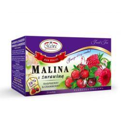 MALWA Herbatka Malina z Żurawiną, 20 torebek